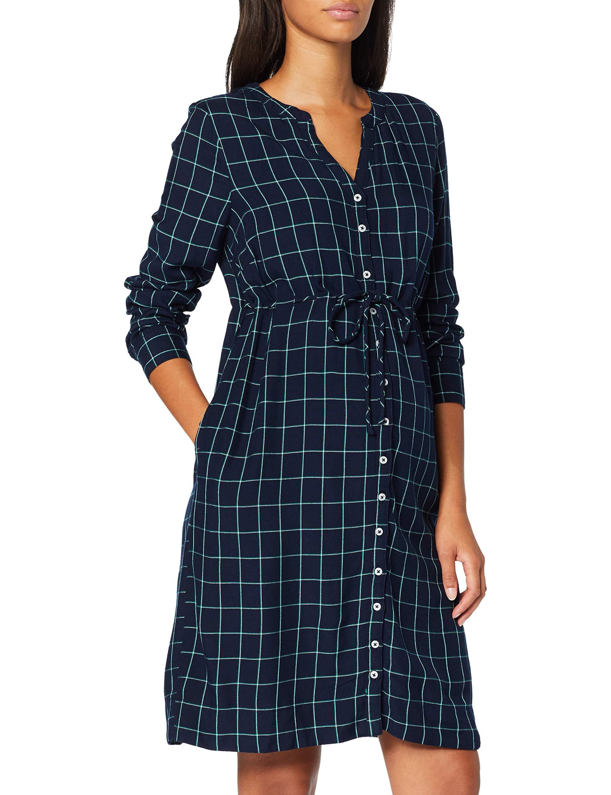 Esprit Maternity Dress Fabricant38 Ls Yd CheckRobe FemmeBleunight Blue 48640taille Wvn gbf7yYIvm6