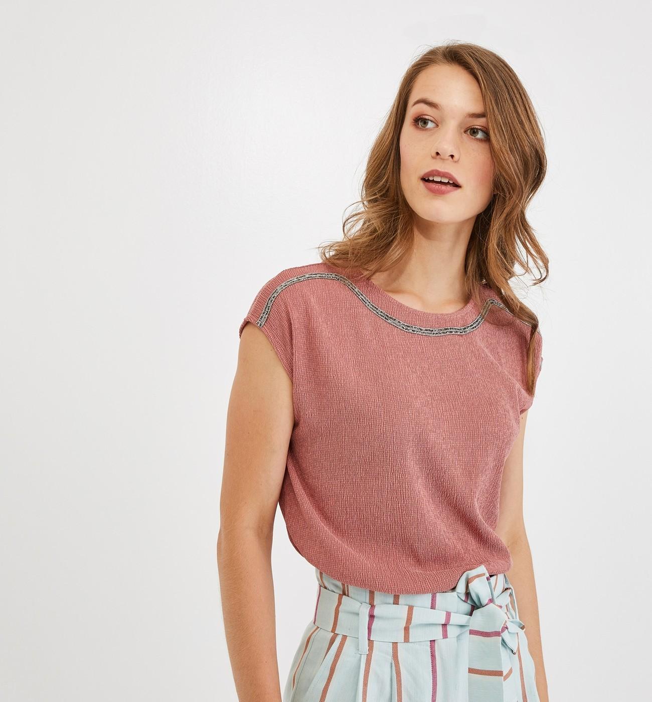 shirt Crépon Promod T Femme En H2WIED9