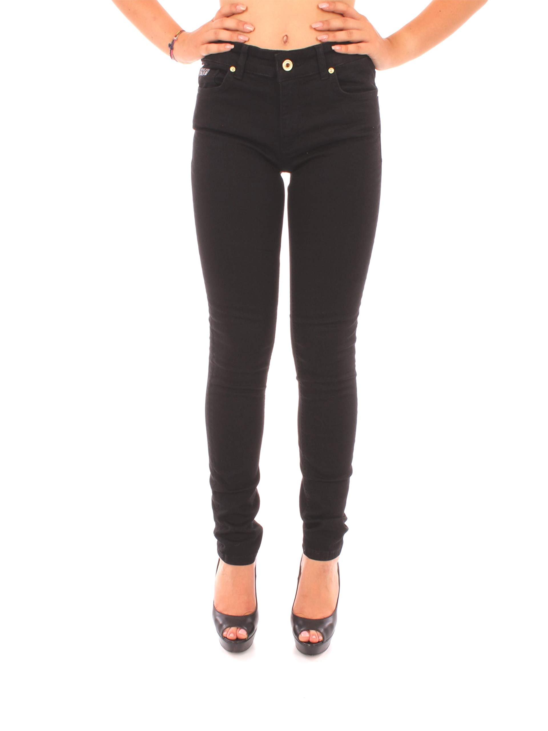 Jeans Jean Fabricant27Femme Trouser Versace Couture 89936taille SkinnyNoirnero Lady vYf6y7bg