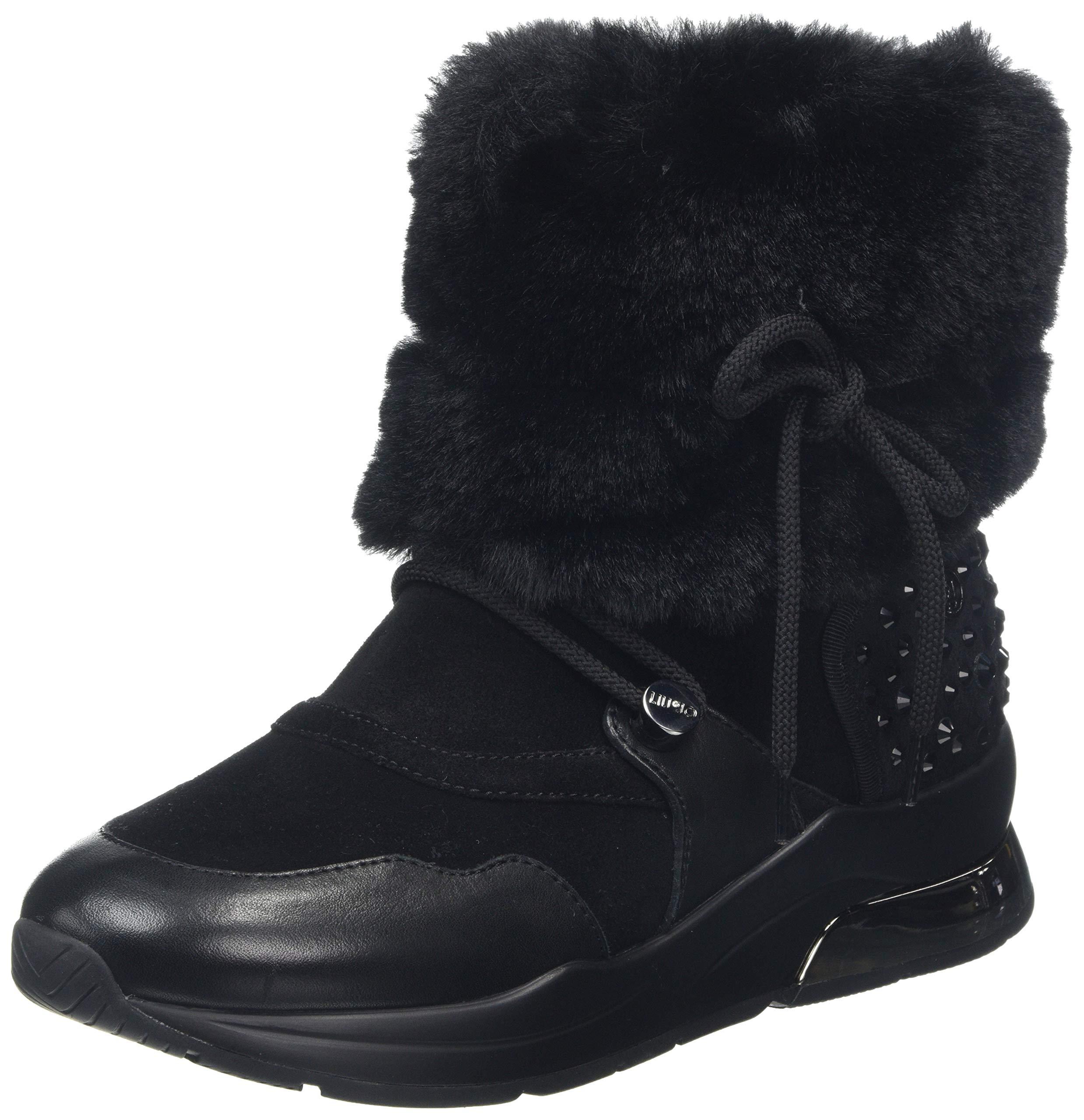Eu blckBotines 34 Cow Sued Shoes Karlie Booty 2222236 FemmeNoirblack Jo Liu linFur lF3TKJu1c