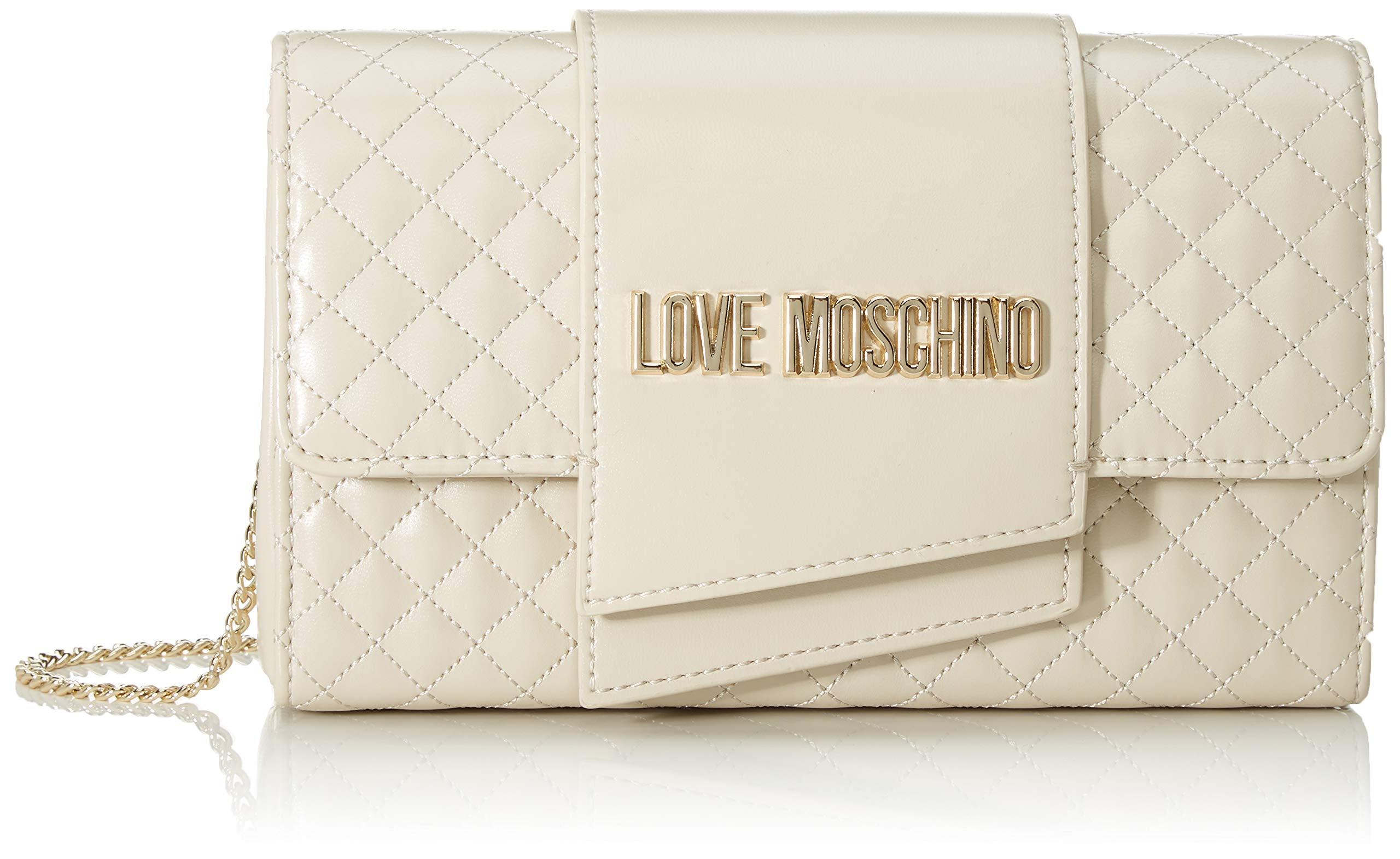 Quilted Moschino L Borsa Love Nappa Cmw X H FemmeEcruavorio13x23x6 PuPochettes 0wONnvm8