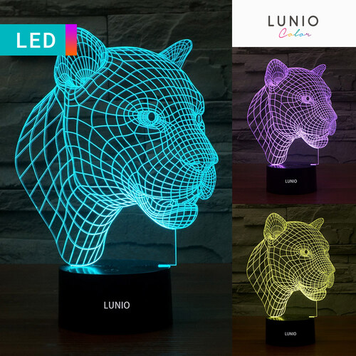 Led 3d Lampe Léopard Lunio Color Illusion Forme bmYf7I6gyv