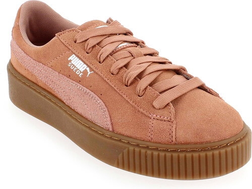 CHAUSSURES BASKETS PUMA femme Suede Classic Wn's taille Rose Cuir Lacets