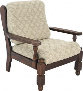 housse coussin de fauteuil rustique