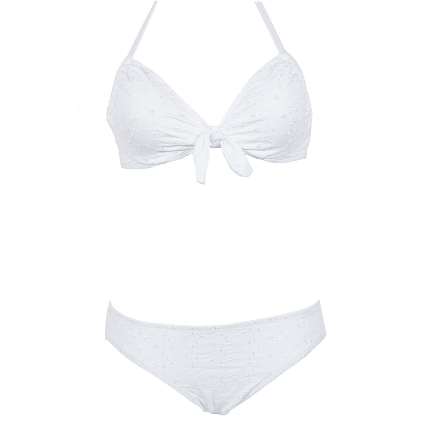 Armatures Blanc Beachwear Brodé Pièces À Solymar De Bain Deux Maillot nXNkZ8wOP0