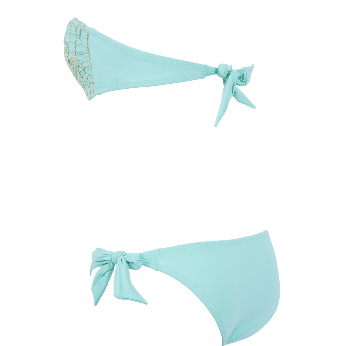 Solymar Maillot Bain 2 Bandeau Pièces Beachwear Crochet De Opale KFcTJl31
