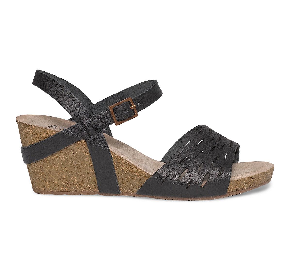 Ajouré Sandale Cuir Compensée Tbs Noire nOP0wk8X