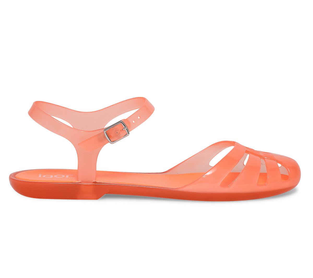 Igor Sandale Sandale Plate Plate Plastique Orange wPN80OnkX