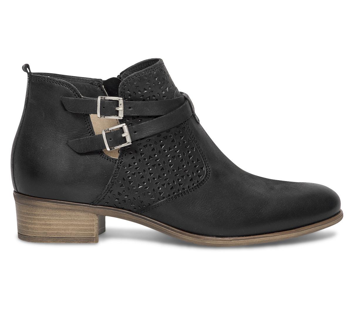 Eram Boots Cut Noir Cuir Out GzpLUVqSM