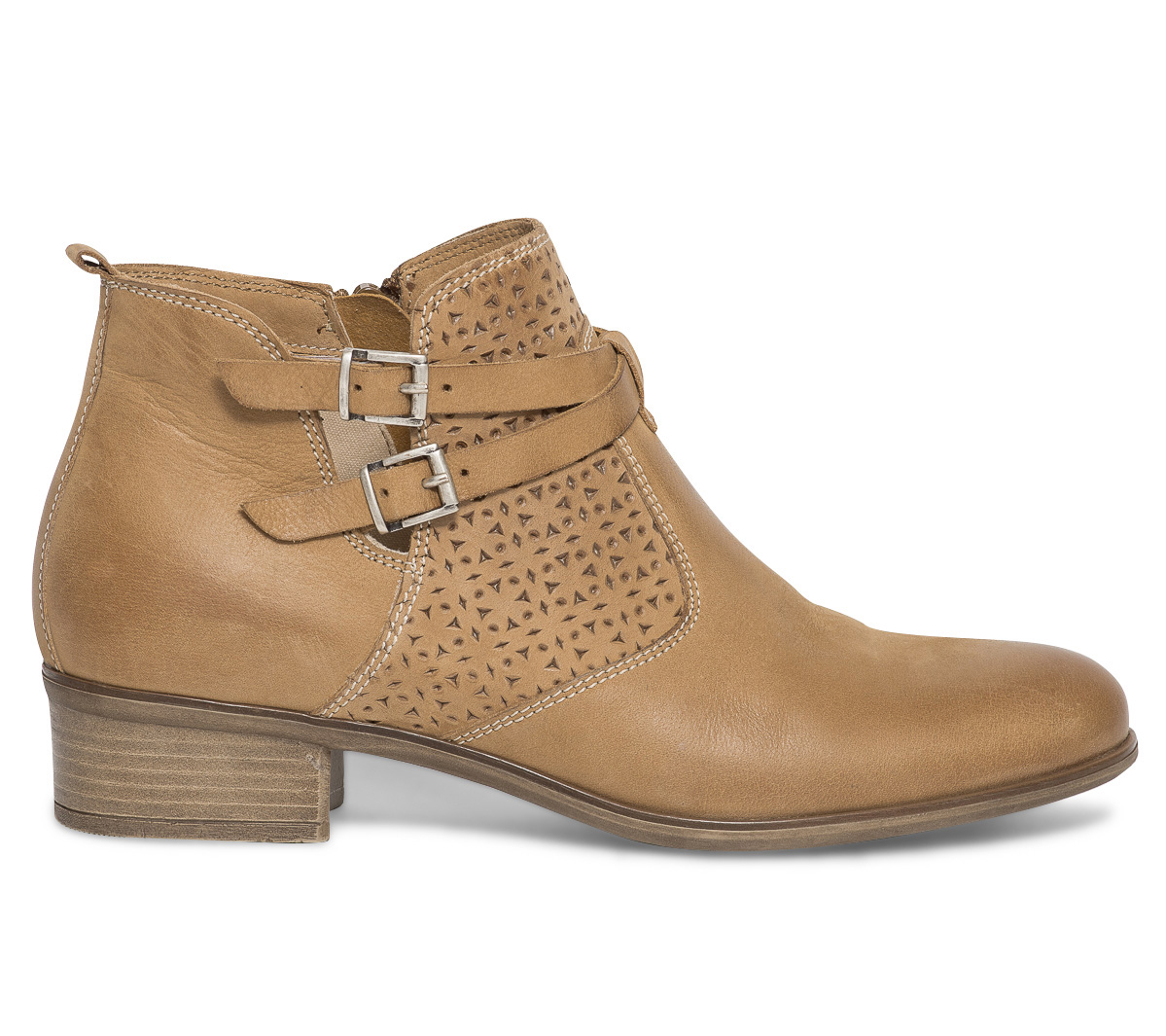 Cuir Camel Boots Cut Eram Out CBxedo
