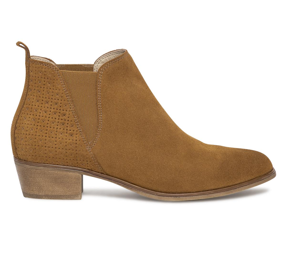 Eram Croûte Boots Cuir Camel De Chelsea 4L3Aj5R