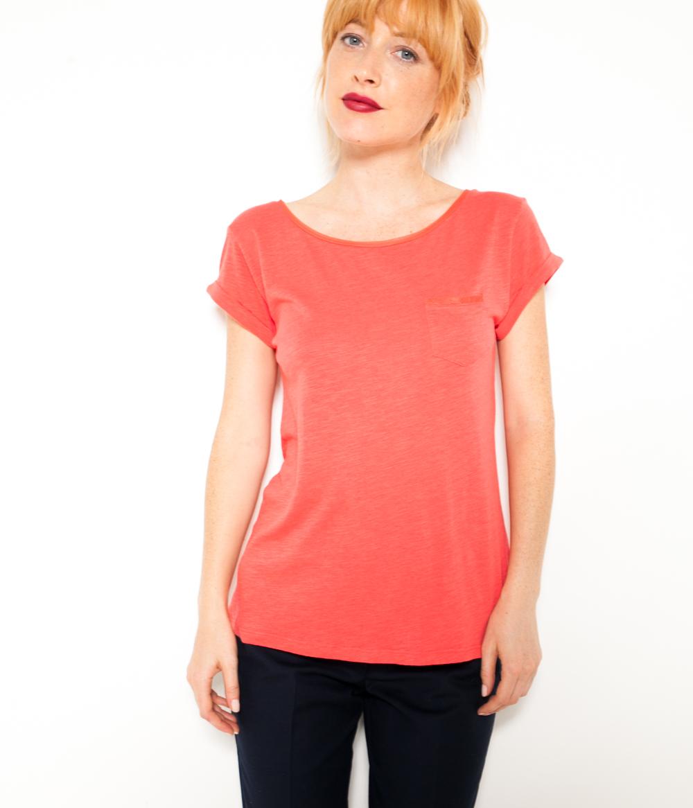 Camaïeu shirt Et Femme T Tulle Coton QChsdrt