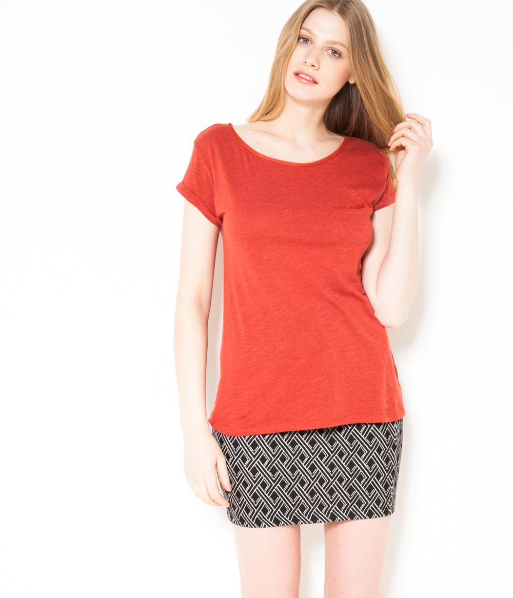 Tulle T Femme Camaïeu shirt Coton Et 8kOPwXZNn0