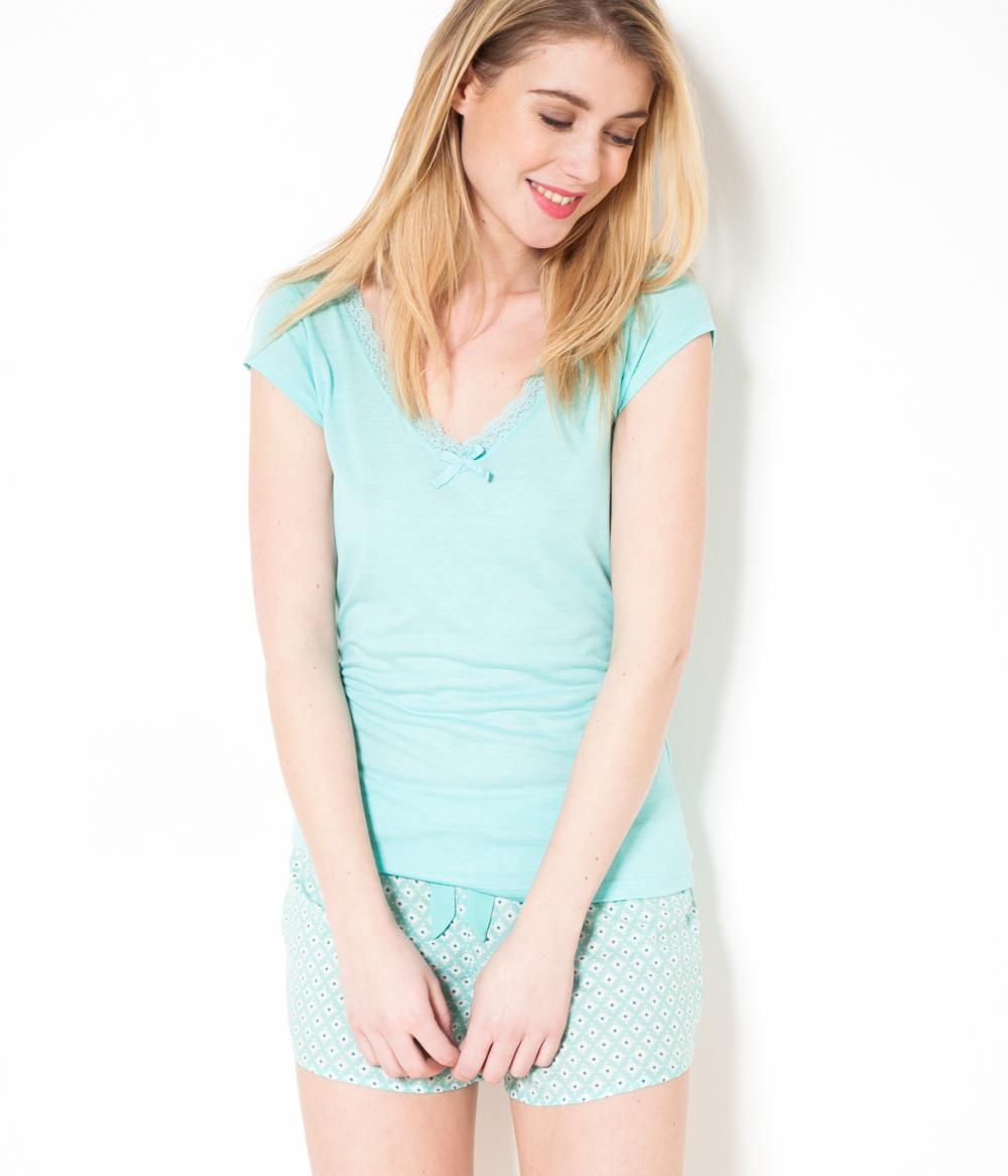 De shirt T Femme Nuit Camaïeu 5L4A3Rj