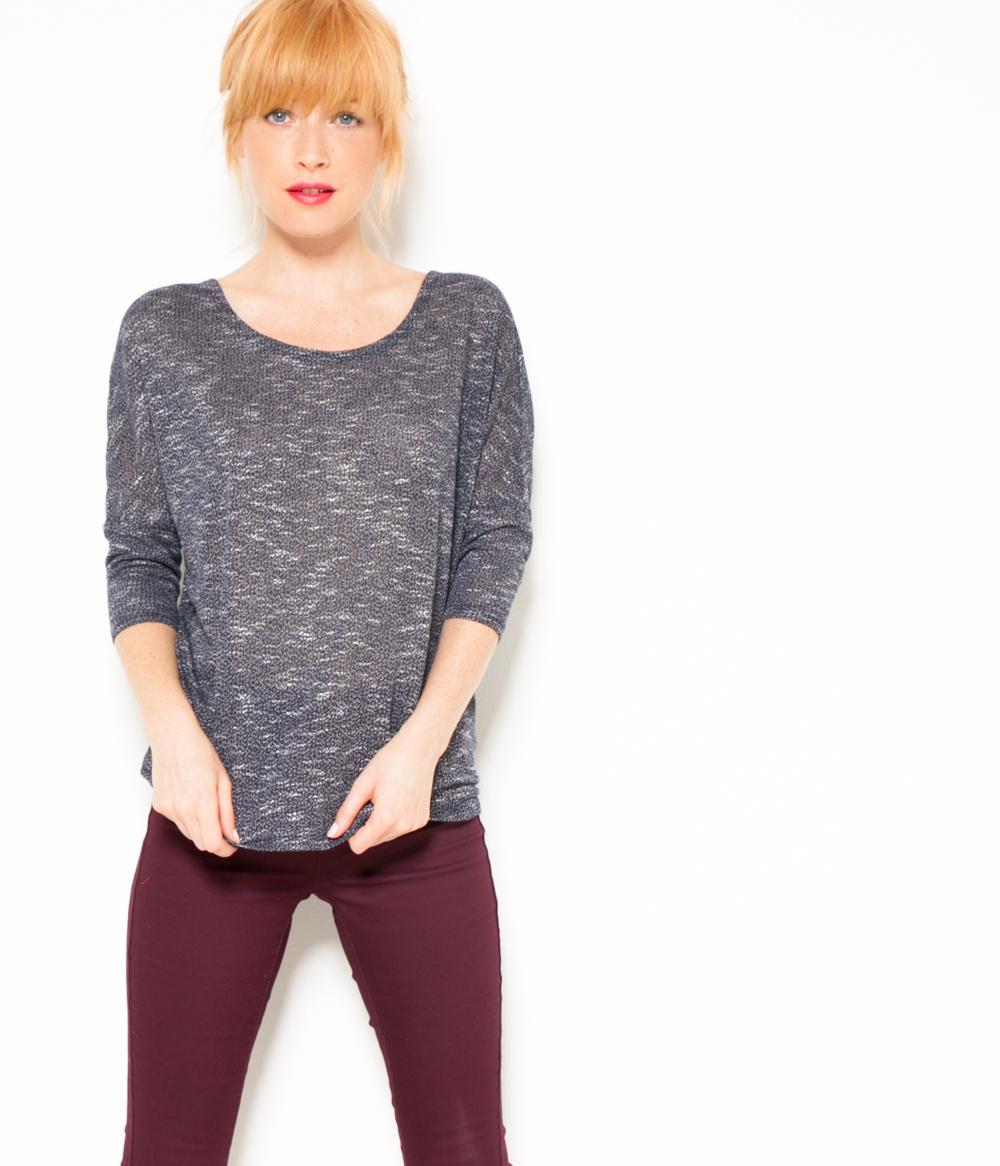 T Femme shirt Maille Camaïeu Chinée DeE29HIYW