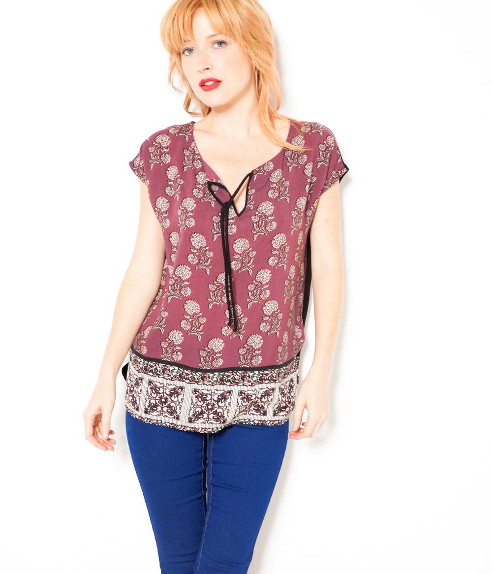 T Bi matière shirt Femme Camaïeu ukZiXP