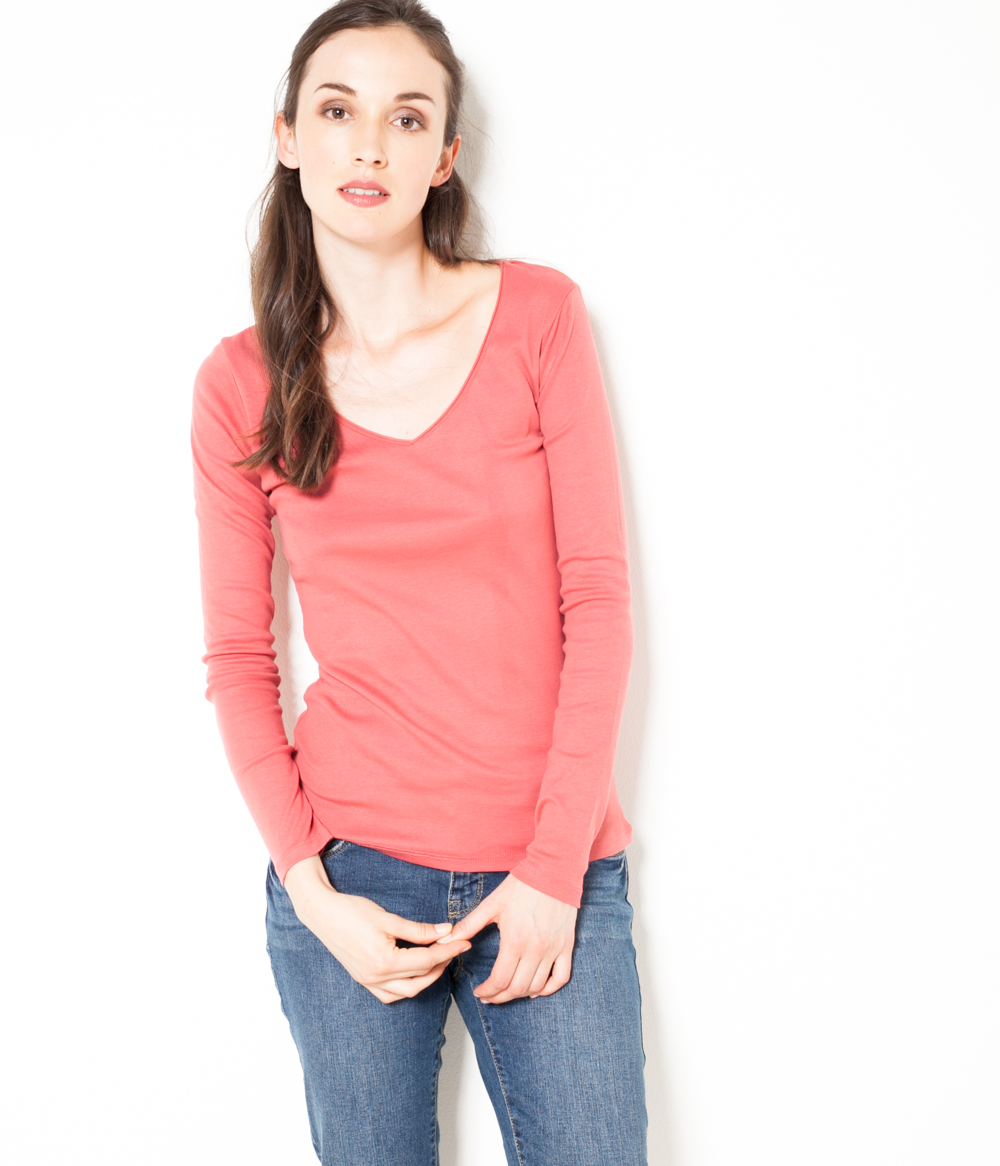 Manches Longues T shirt Femme Camaïeu Fu1JT3lKc