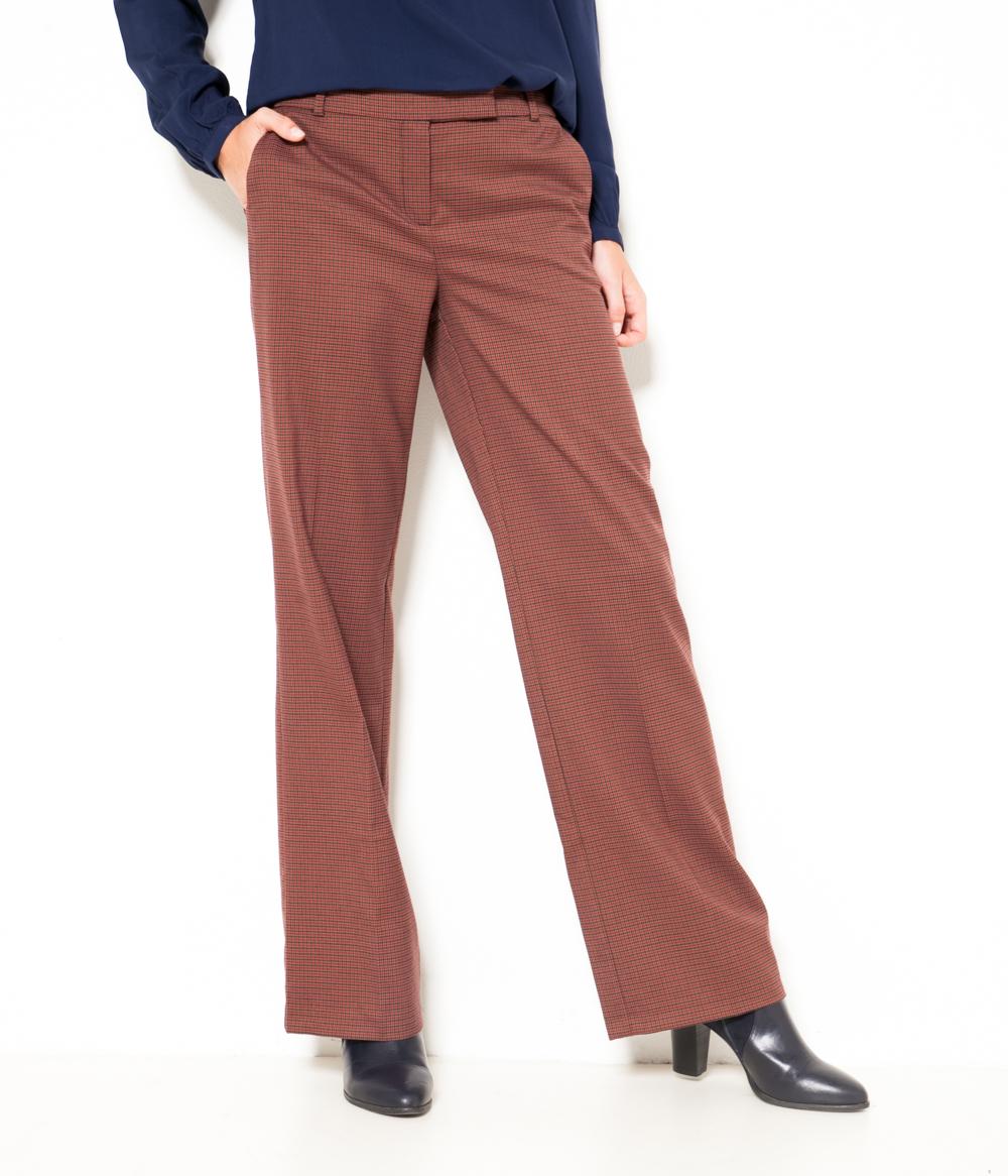 Camaïeu Large À Carreaux Pantalon Femme nm0wvN8