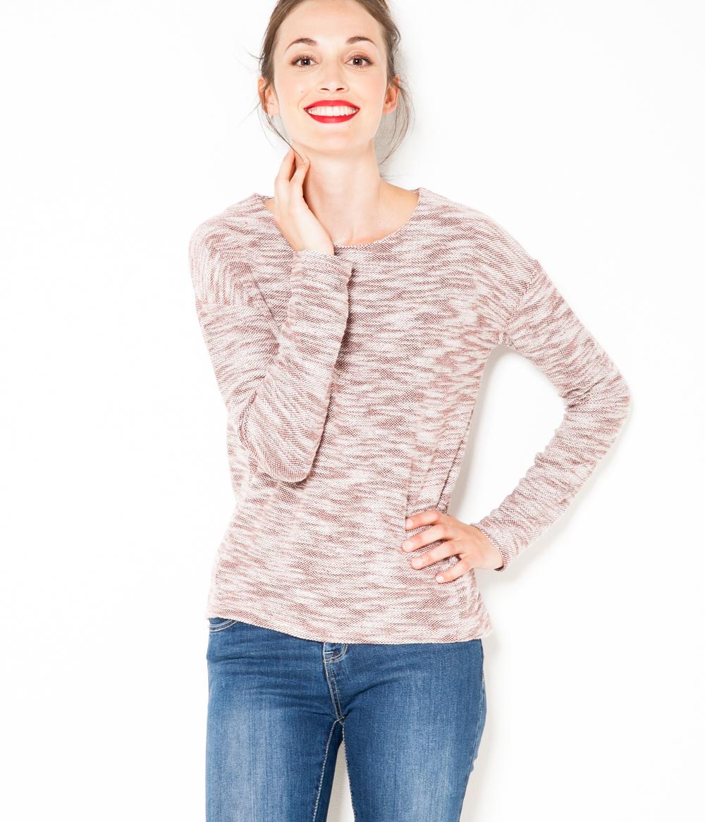 Maille T Camaïeu Femme Chinée shirt N8nwO0vm