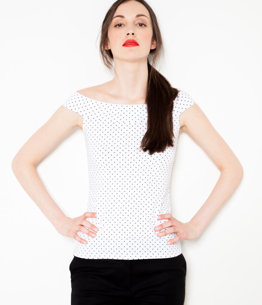 T Femme À Pois Camaïeu shirt ulF31cKJT5