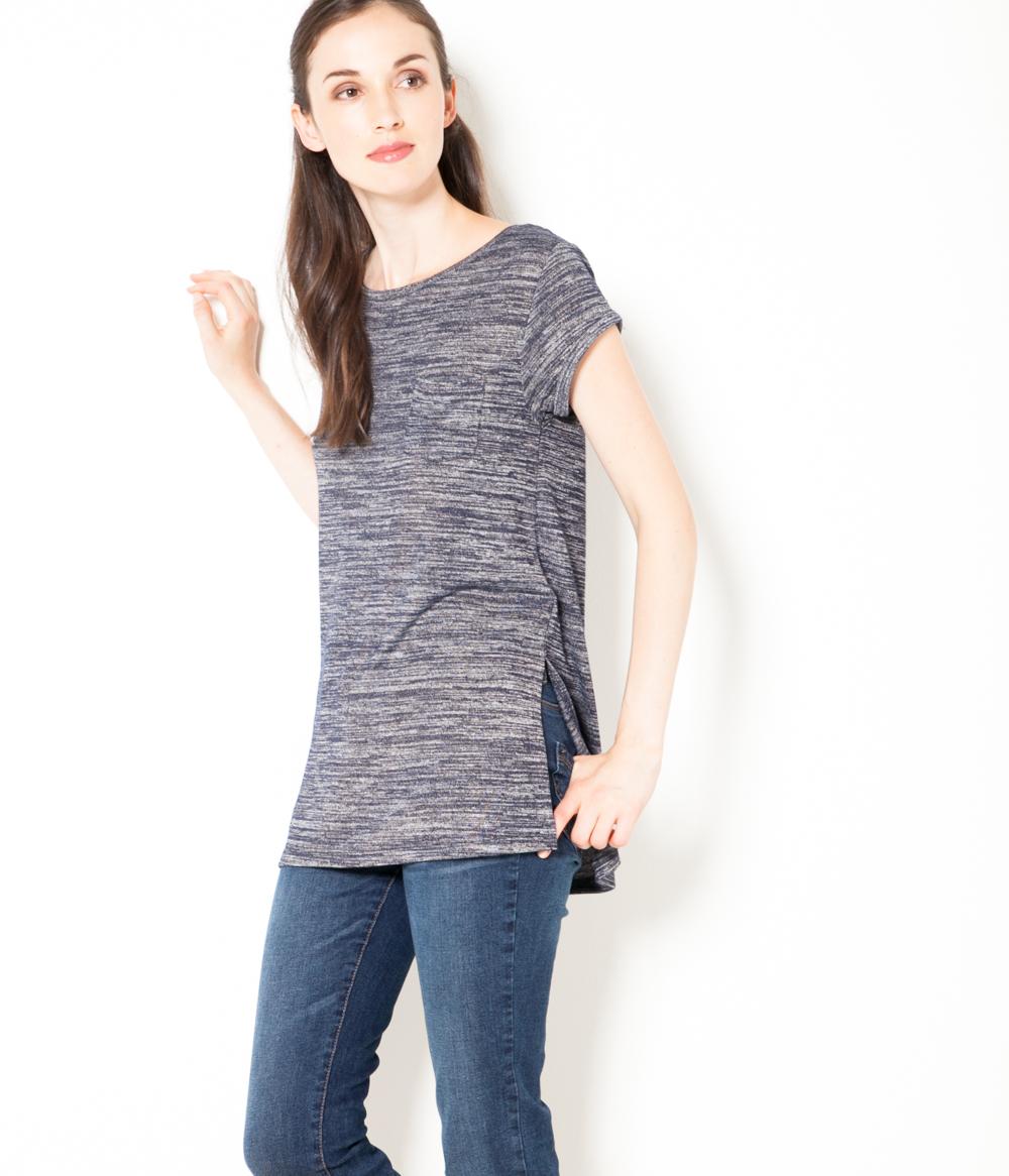 shirt Maille Chinée Camaïeu Femme T oCexdB