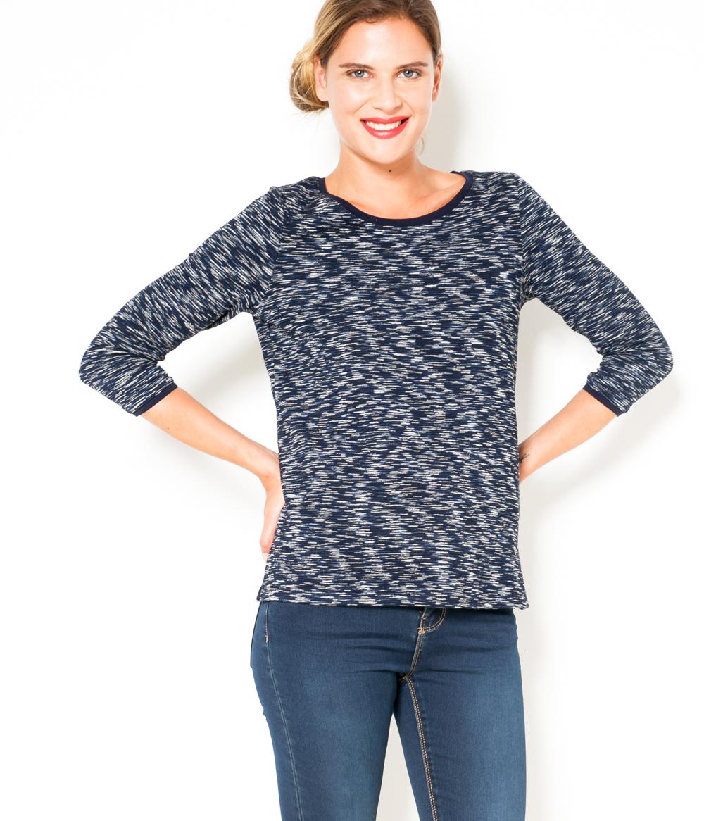 Camaïeu shirt T Femme Chiné 0wPk8XOn
