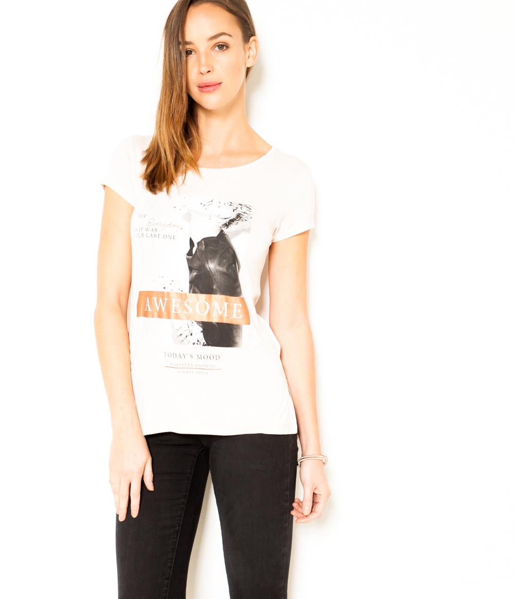 » T Femme Awesome « Camaïeu shirt doQCBEeWrx