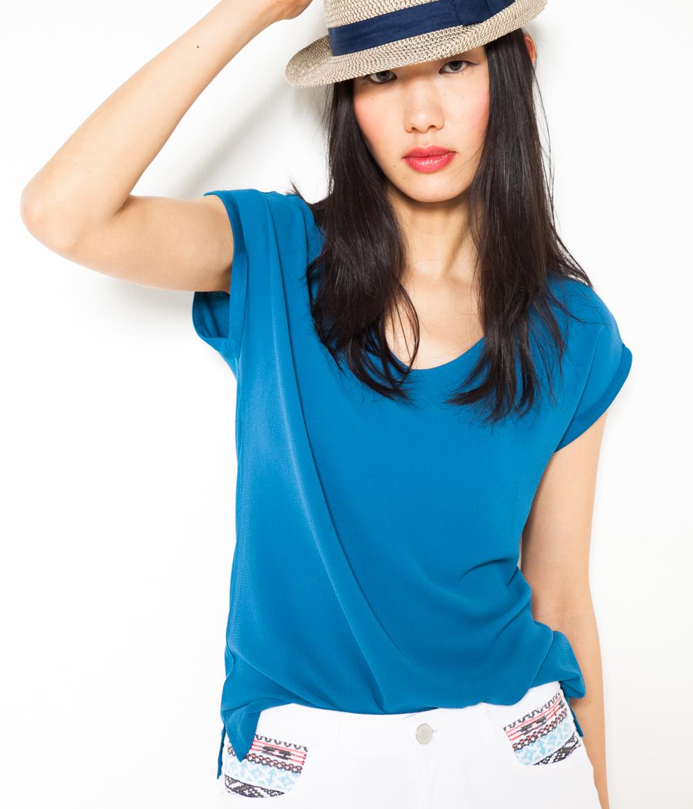 Camaïeu Femme matière T Bi shirt Ybvf76yg