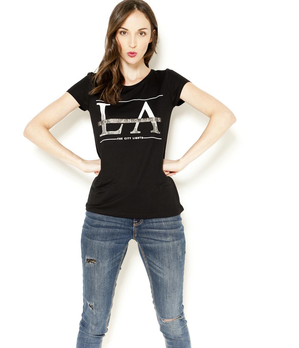 Camaïeu shirt T Femme « » Angeles Los EeDH2YWI9
