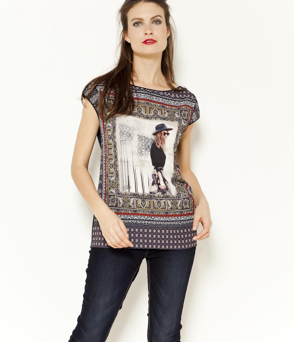 Femme Camaïeu Camaïeu T T Imprimé shirt shirt wPX80OZNnk