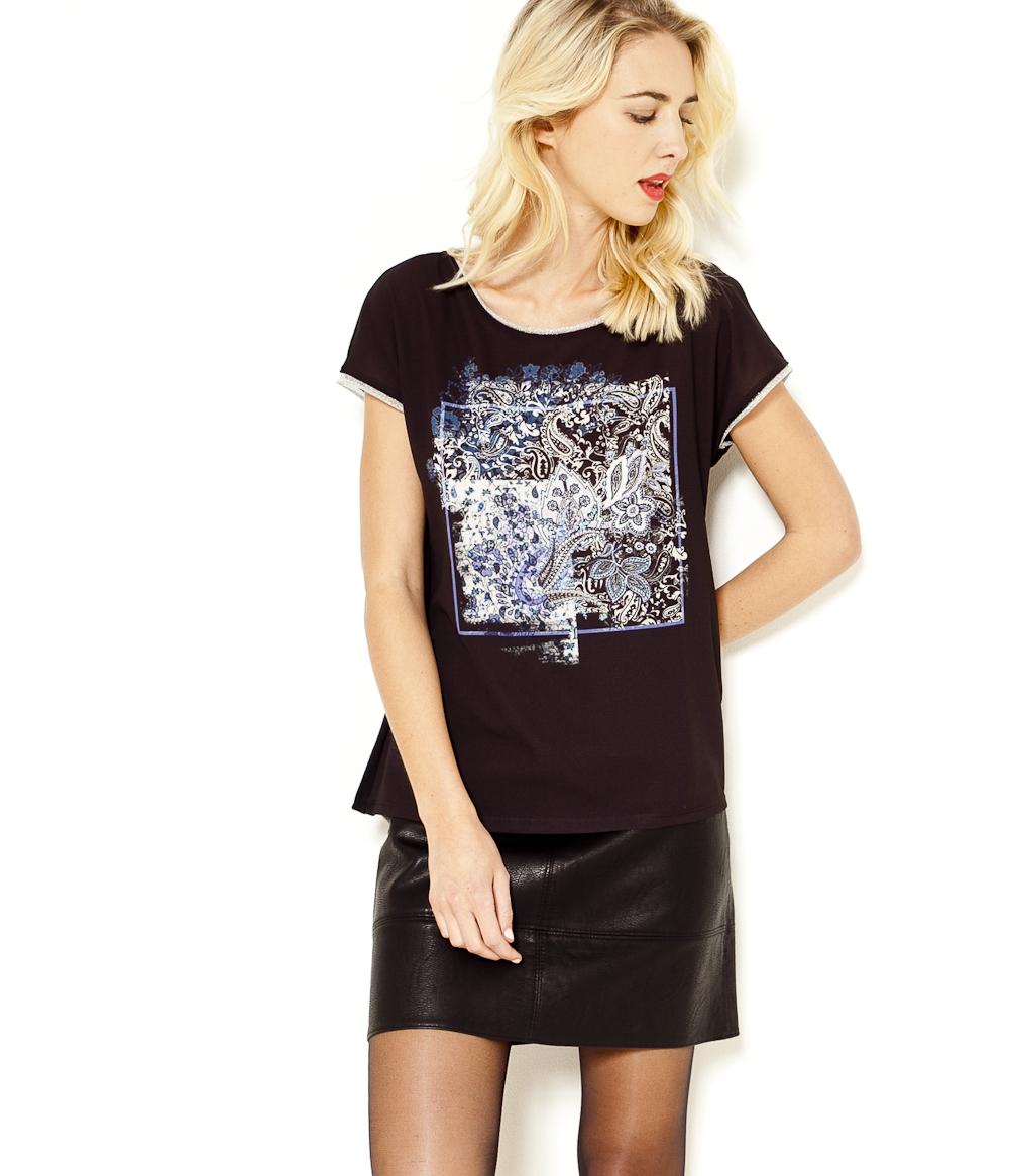 shirt Femme T Camaïeu Imprimé Camaïeu vNwOmy8n0P