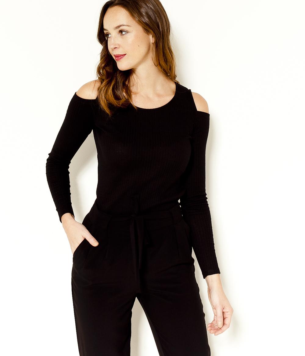 Découpes shirt Femme Camaïeu Épaules T PXiuZOk