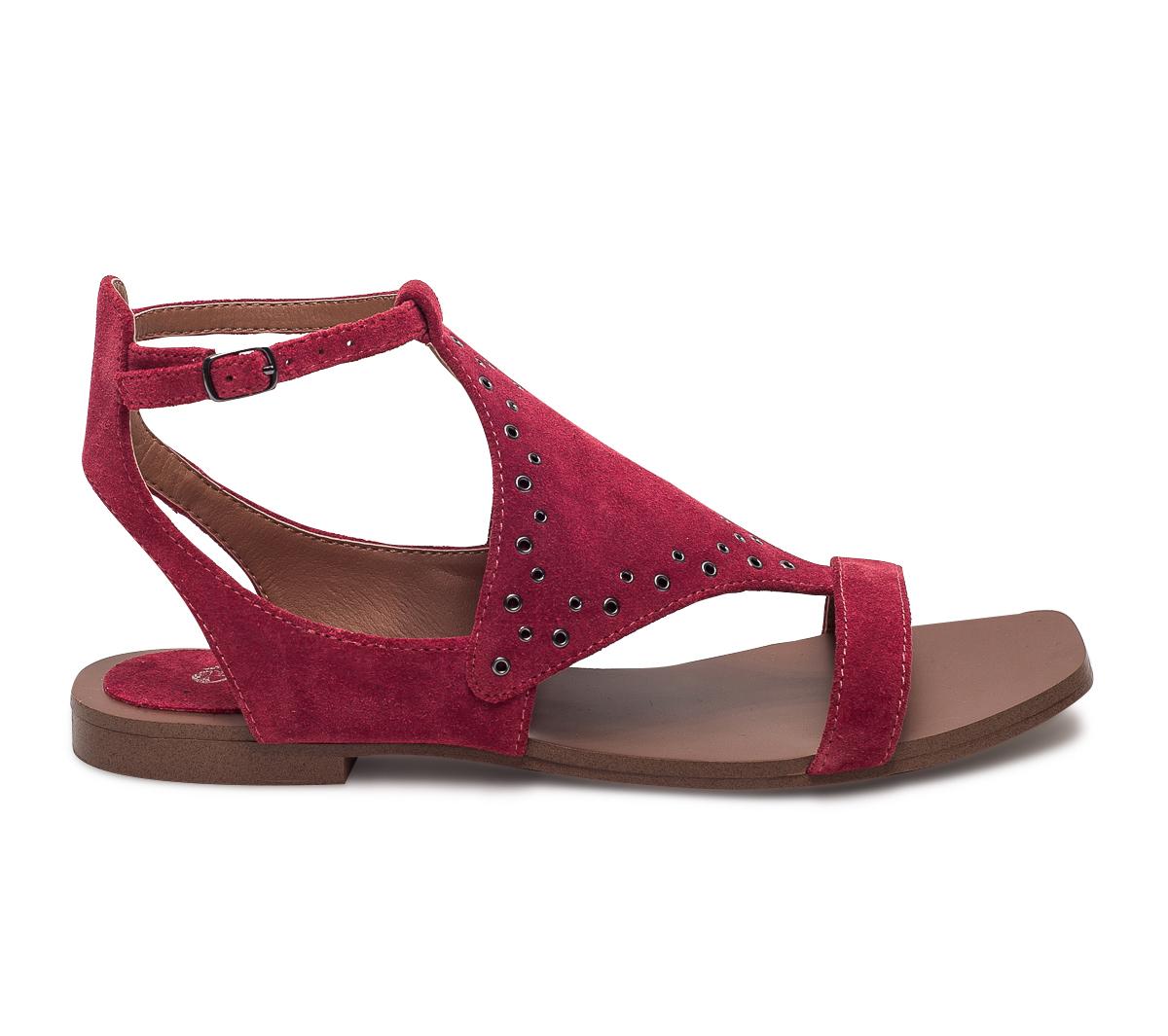 Sandale À Oeillets Eram Dorés Rouge qSUzVGMp