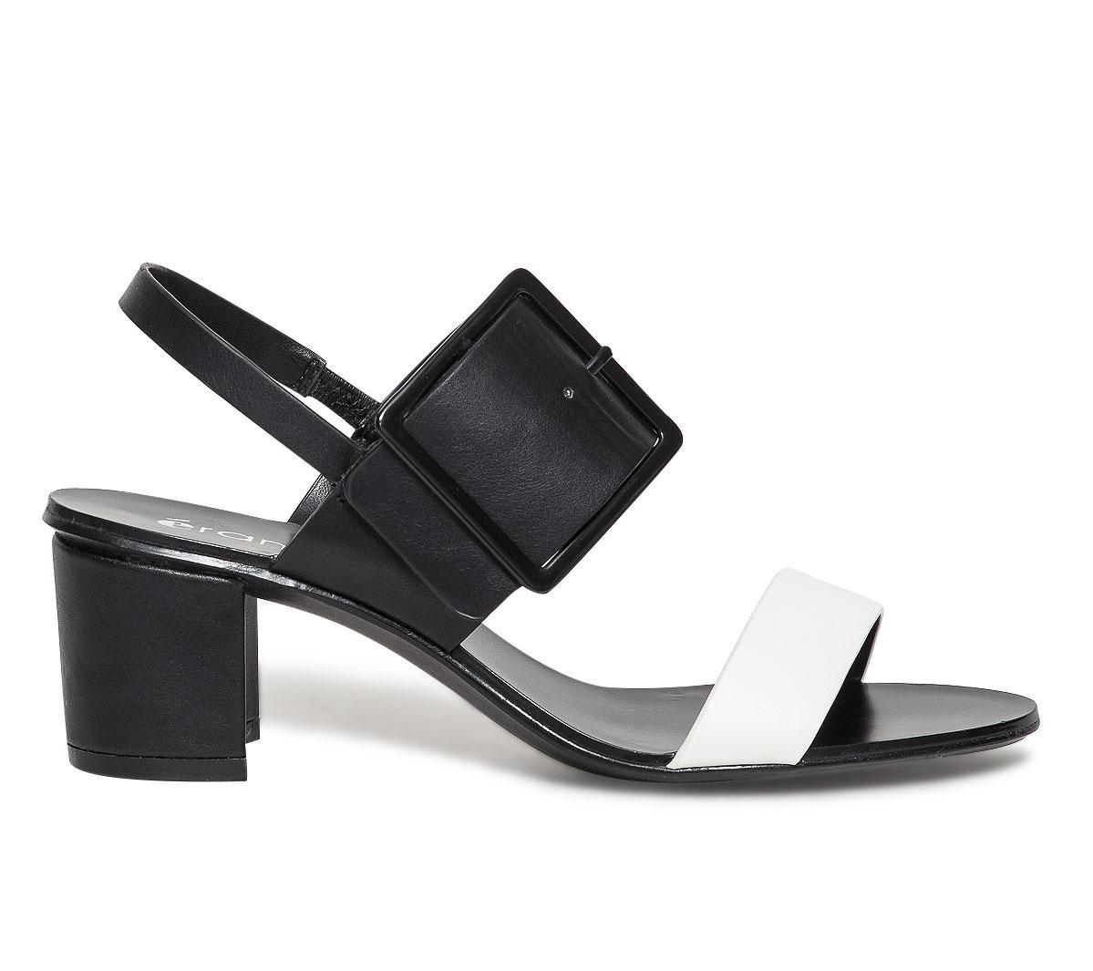 Large Avec Noire Eram Boucle Sandale L3ARq45j