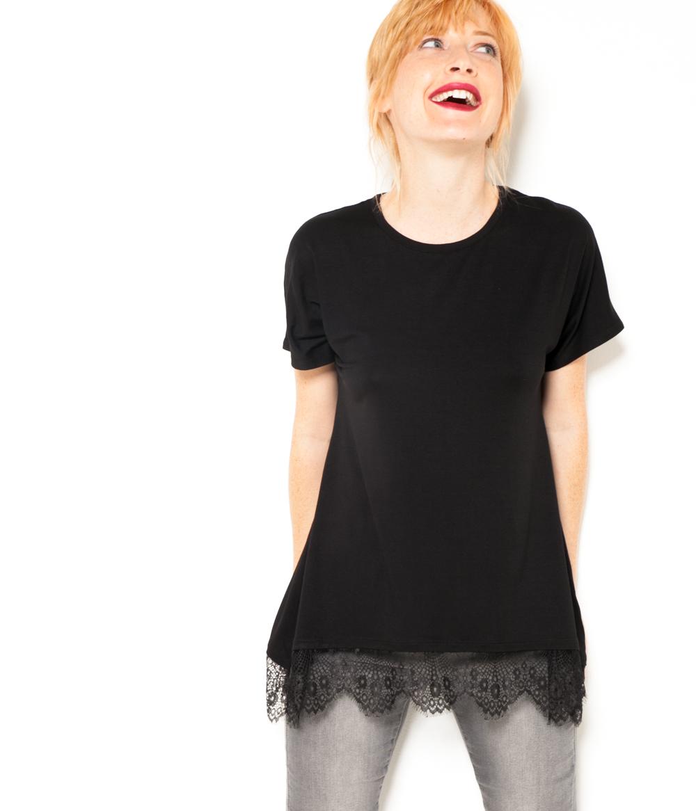 shirt Femme Long T Camaïeu 3K1TclFJ