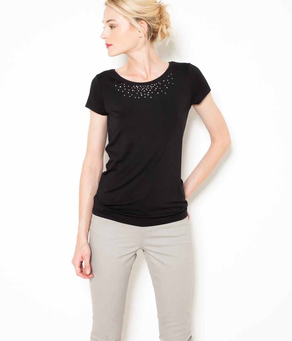Camaïeu T Femme Strass shirt Décor 0nwOPk