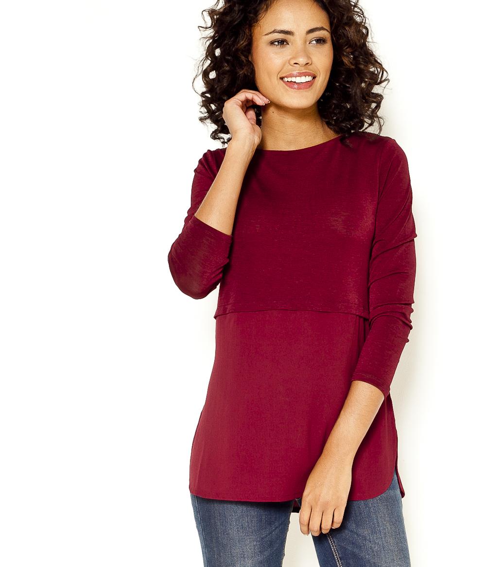 Camaïeu Bi T matière Femme Long shirt lPkuiwXZTO