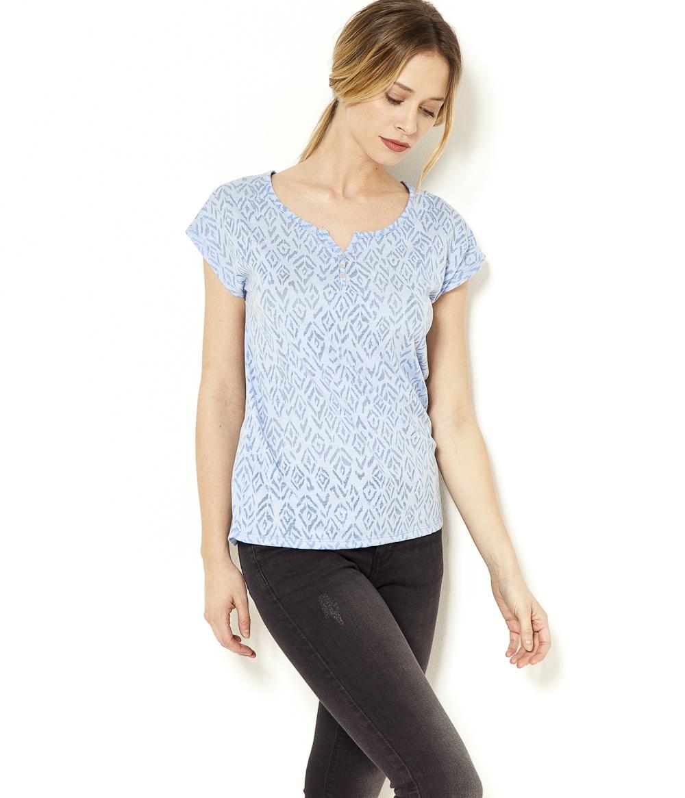 V Col Camaïeu Fantaisie shirt Femme T luTJFK13c