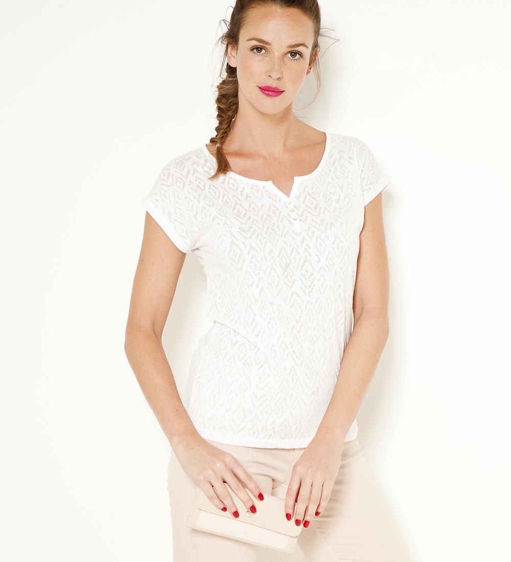 T Fantaisie shirt Femme Camaïeu Col V nN08mw