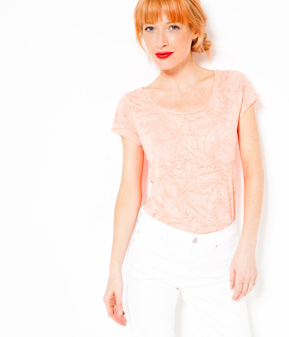 Camaïeu Dévoré Femme Camaïeu T shirt Dévoré Femme T shirt Ybf7gI6yv