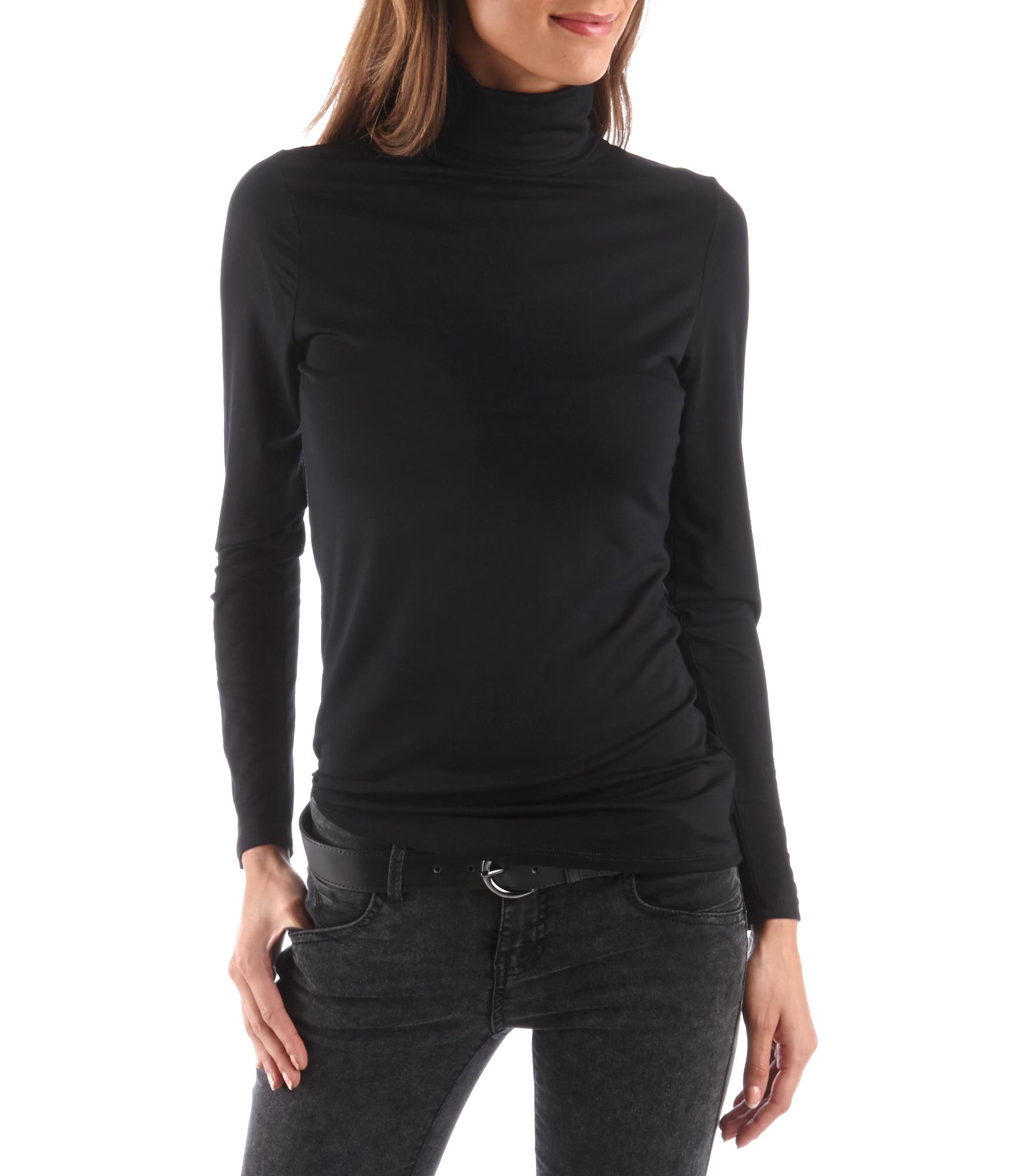 T Col Camaïeu Roulé shirt Femme roedBxC