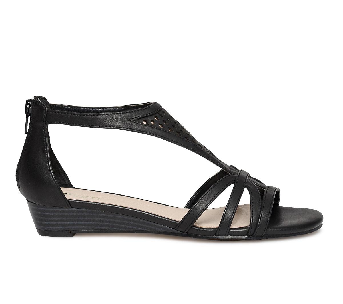 Et Sandale Compensée Eram Noire Cuivrée Lj34Aqc5R