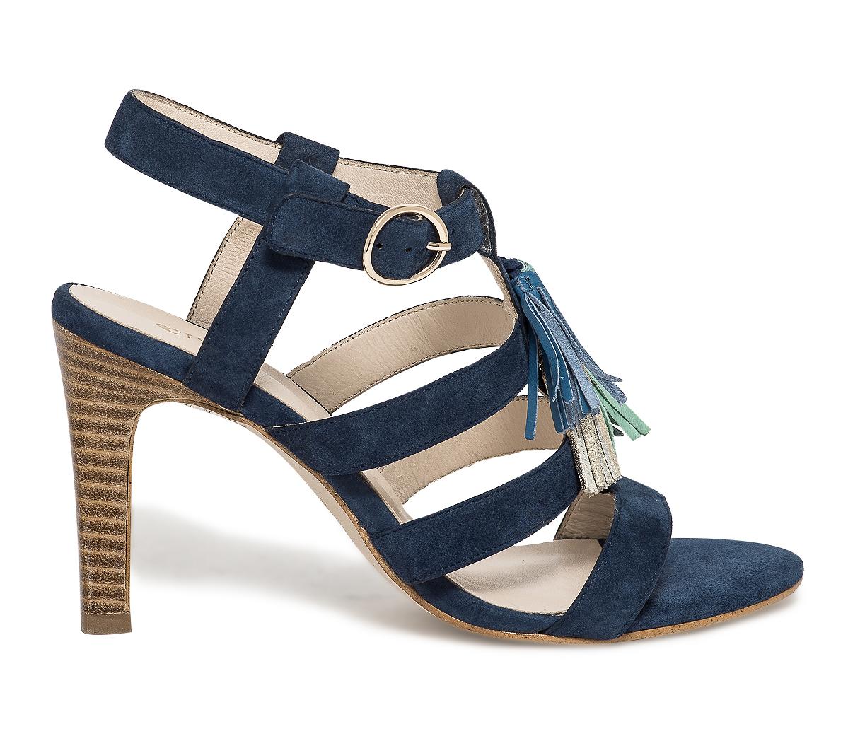 Bleue Multibride Eram À Pompons Sandale jpGVULzqSM
