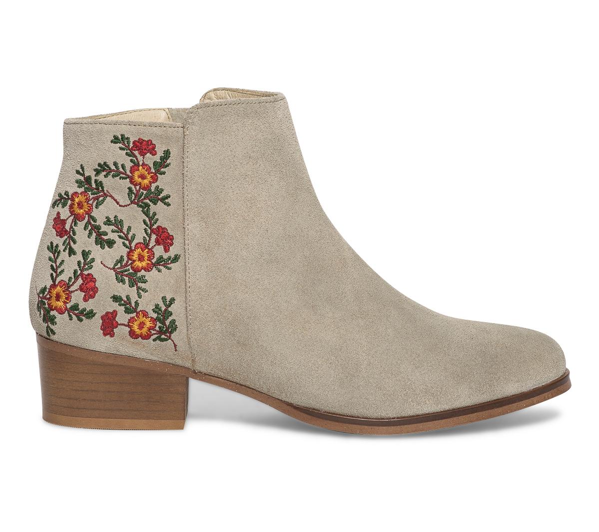 Eram Boots Boots Beige Fleurs Eram Beige Broderies Nnvwym80O