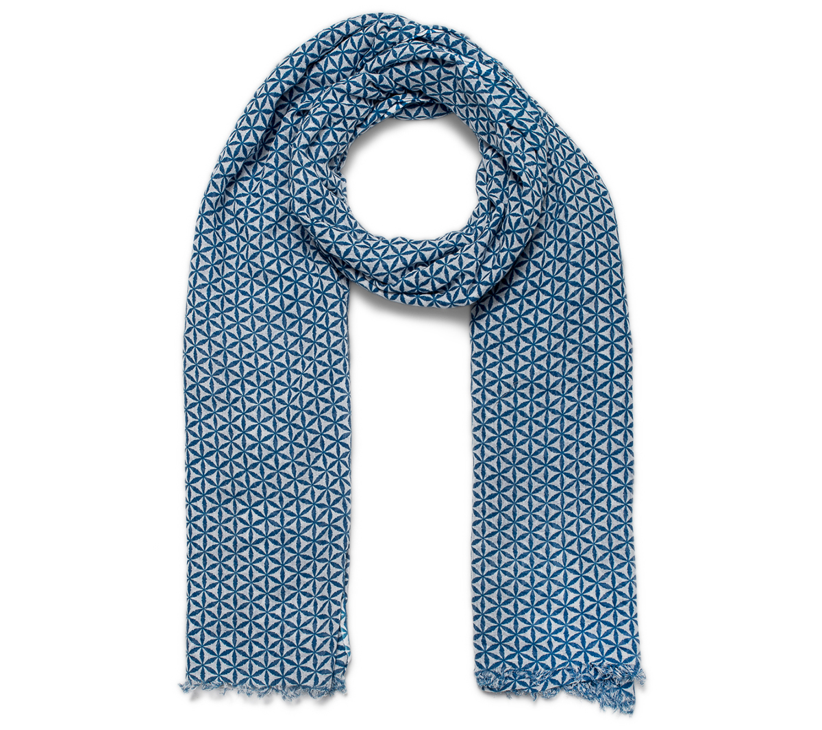 Bleu Imprimé Foulard Blanc Eram Et n0PwOk
