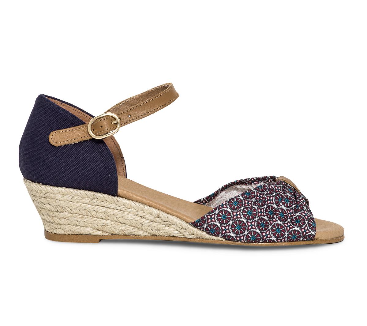 Bleue Et Sandale Eram Compensée Wax GVpqUzSM