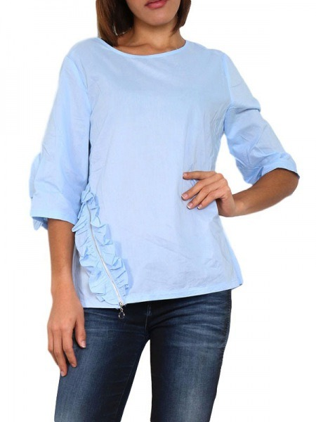 RondCendriyon Why Blouse Ciel Bleu Col Not jR53Aq4L
