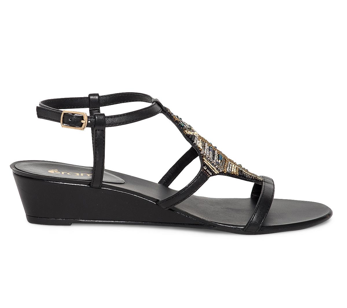 Sandale Compensée Perles Eram Décor 5T1JulKc3F