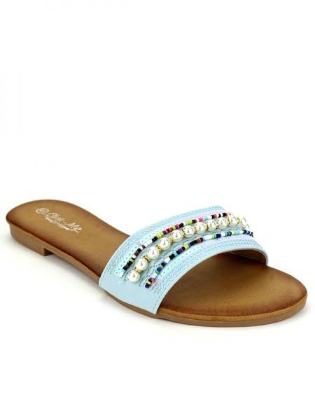Sandale Blue CinksCendriyon Sandale Blue Perles 3jLq4A5R